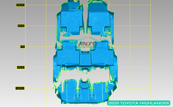 The car floor liner mold for Toyota 2020 HIGHLANDER is developing