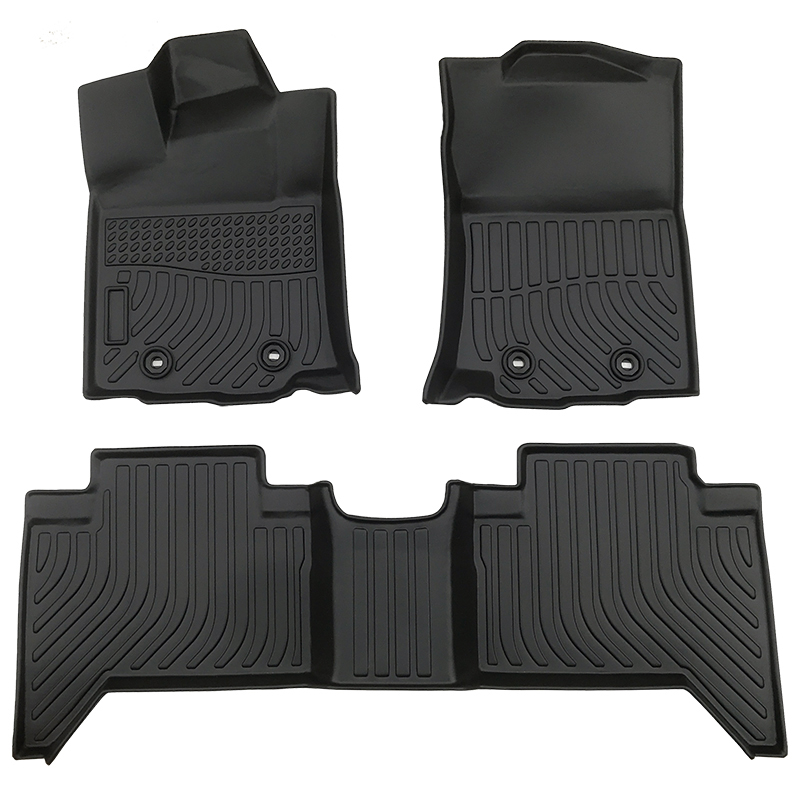 3D TPE weather car floor liners mats for Toyota Tacoma Doublecab