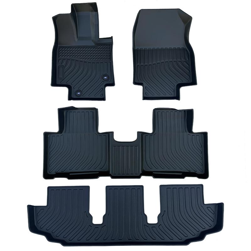 3D TPE all weather car floor liners mats for Toyota Highlander